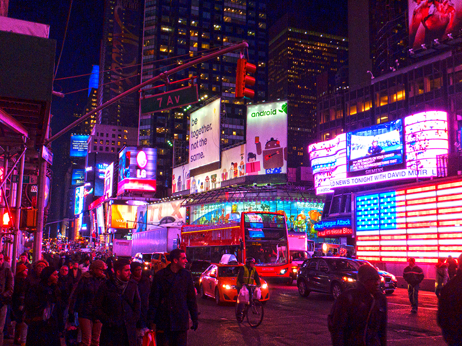 Lit Up Times Square