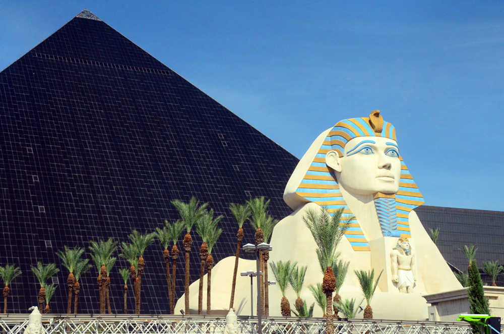 The Great Sphinx of Las Vegas Blvd